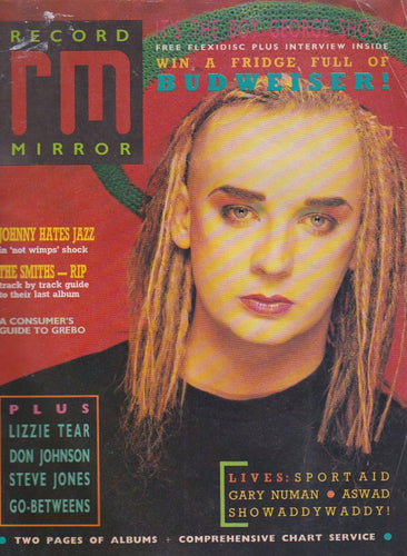 Record Mirror Magazine - 1987 Boy George
