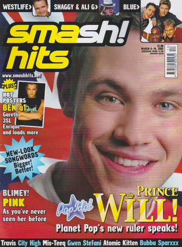 Smash Hits Magazine 2002 - Will Young