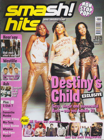 Smash Hits Magazine 2001 - Destiny's Child