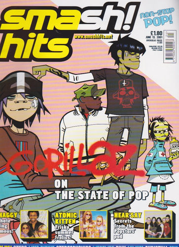 Smash Hits Magazine 2001 - The Gorillaz Jamie Hewlett
