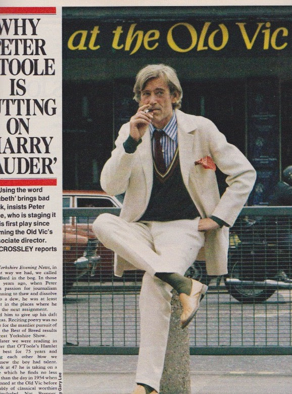Putting on the Harry - A 2 page article with Peter O'Toole