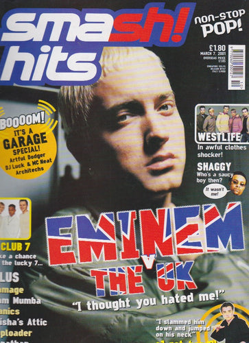 Smash Hits Magazine 2001 - Eminem