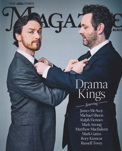 The Times Magazine - James McAvoy - Michael Sheen