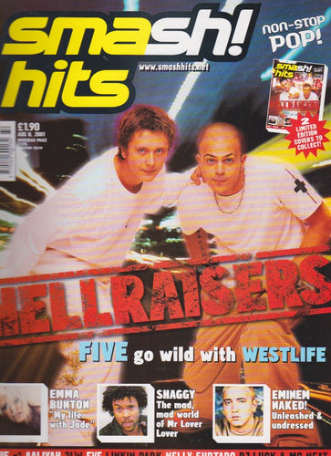 Smash Hits Magazine 2001 - Five