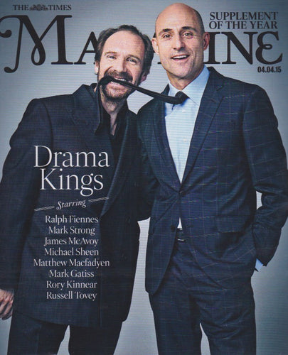 The Times Magazine - Mark Strong & Ralph Fiennes