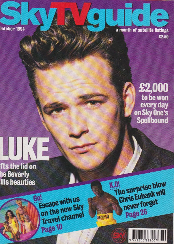 Sky Tv Guide Magazine - Luke Perry