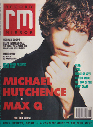 Record Mirror Magazine - 1990 - Michael Hutchence