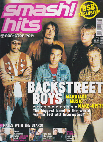 Smash Hits Magazine 2000 - The Backstreet Boys