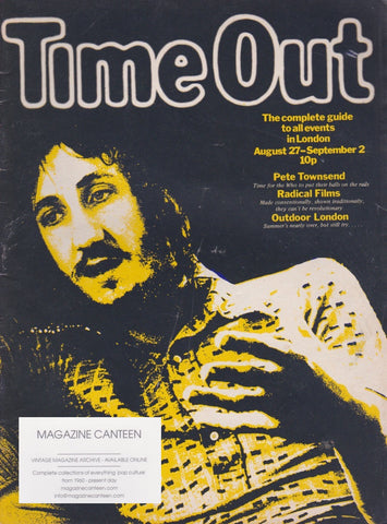 Time Out Magazine - Pete Townshend