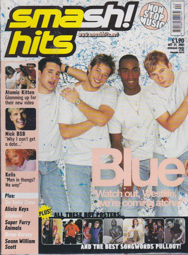 Smash Hits Magazine 2001 - Blue