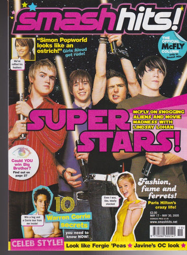 Smash Hits Magazine 2005 - McFly