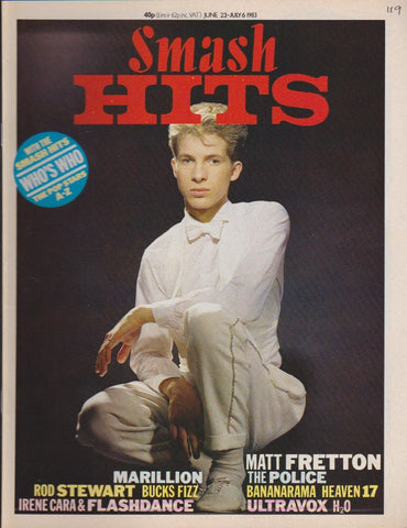 Hits Magazine 1983 - Matt Fretton