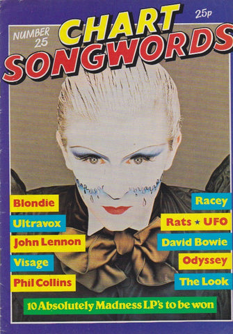 Chart Songwords - Steve Strange - Visage