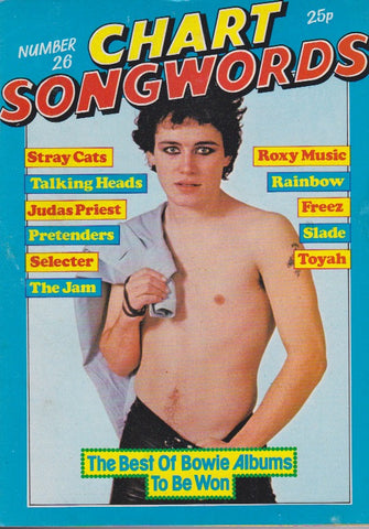 Chart Songwords - Adam Ant