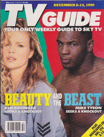 TV Guide Magazine - Mike Tyson and Kim Basinger