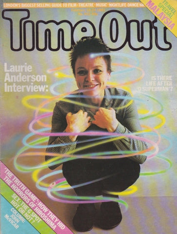 Time Out Magazine - Laurie Anderson