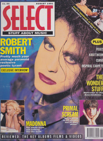 Select Magazine - Robert Smith - The Cure