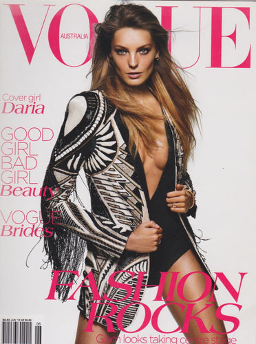Vogue Australia Magazine - Daria Werbowy - June 2012