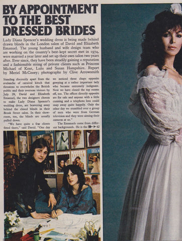 The Sunday Times Magazine - Clive Arrowsmith - Appointment to Brides