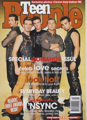Teen People Magazine - Nsync Justin Timberlake