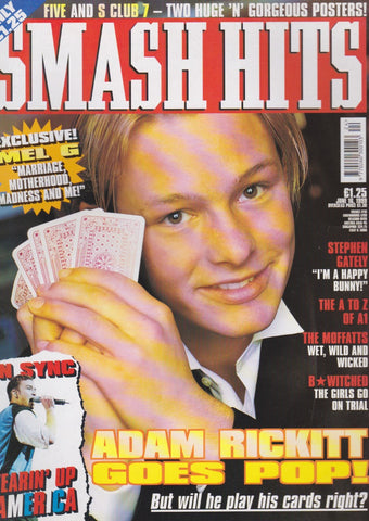 Smash Hits Magazine - Adam Rickitt