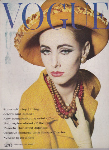 Vogue Magazine -  February 1962 - Inc Jean Shrimpton