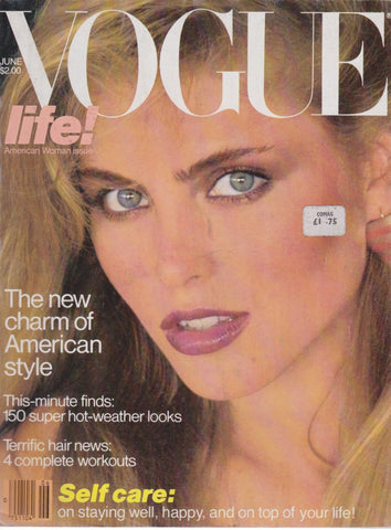 Vogue USA Magazine - June 1980 - Kim Alexis