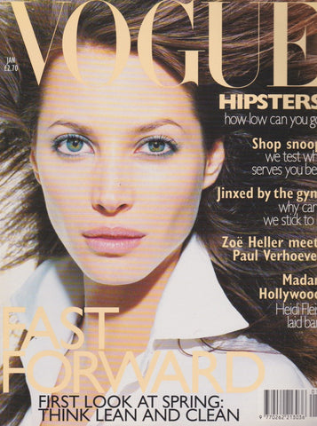 Vogue Magazine -  January 1996 - Christy Turlington