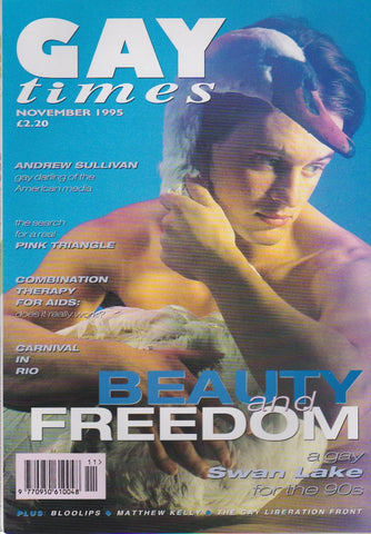 Gay Times Magazine 1995 - Phil Hill - Swan Lake
