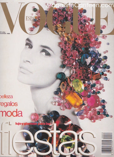 Vogue Spain Magazine - December 1990 - Daniela Ghionel ( Ghione )