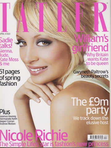 Tatler Magazine - April 2006 - Nicole Ritchie