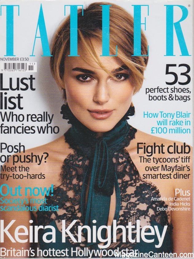 Tatler Magazine - November 2005 - Keira Knightley