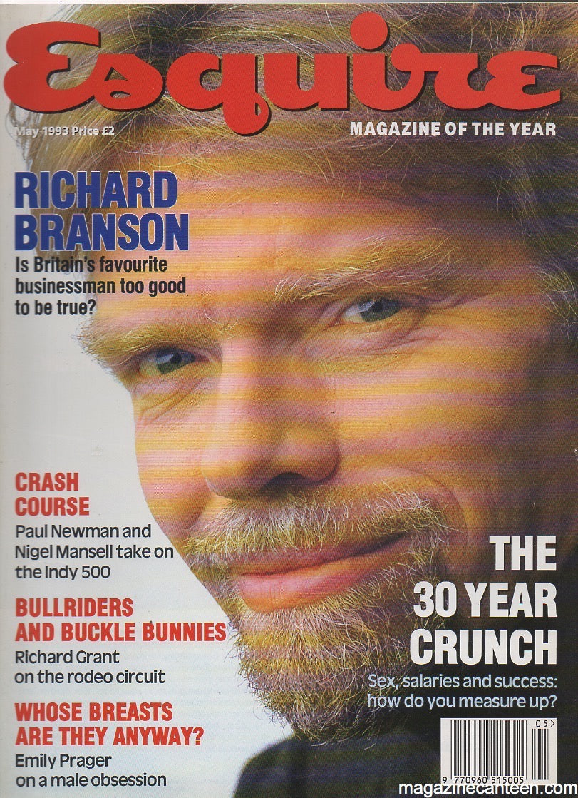 Esquire Magazine May 1993 - Richard Branson billy zane
