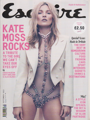 Esquire Magazine - September 2013 - Kate Moss