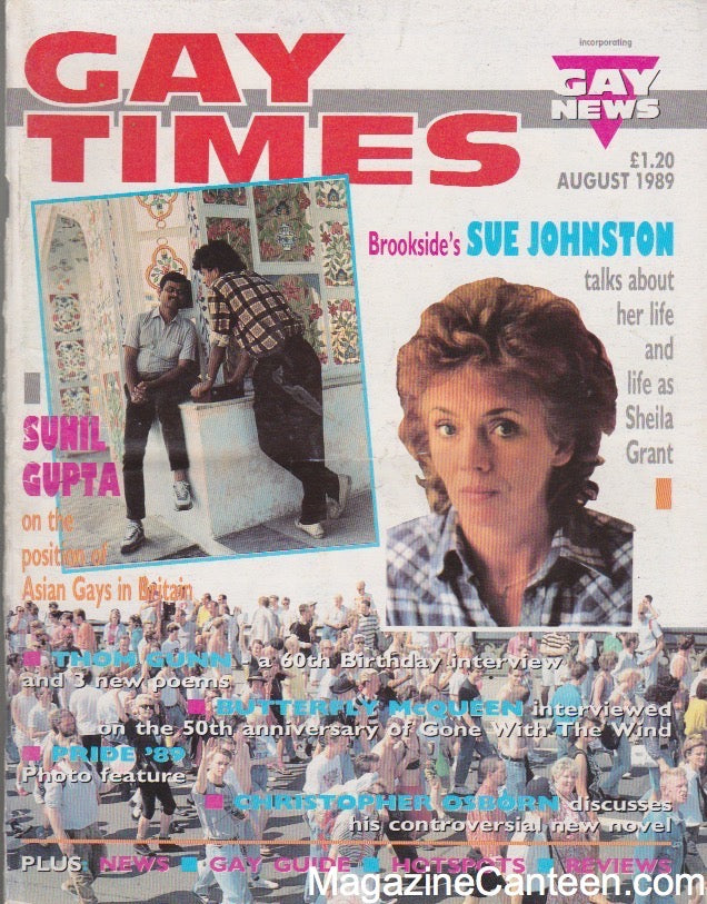 Gay Times Magazine 1989 - Sue Johnston - Pride