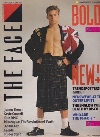 The Face Magazine - 1984 - Jamie Morgan november 1984