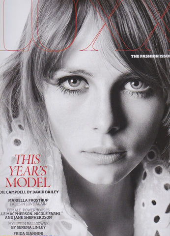 Luxx Magazine - Edie Campbell by David Bailey
