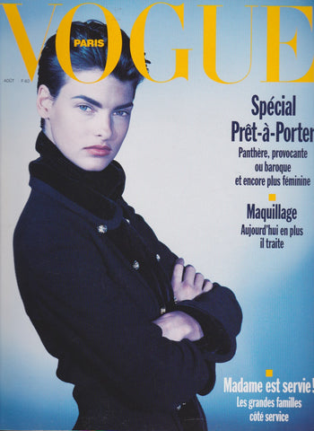 Vogue Paris Magazine - 1989 - Linda Evangelista