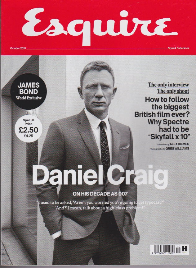 Esquire Magazine - October 2015 - Daniel Craig
