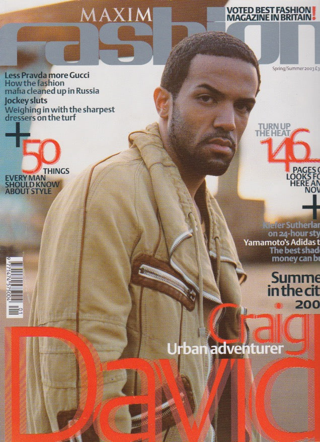 Maxim Fashion Magazine - Craig David