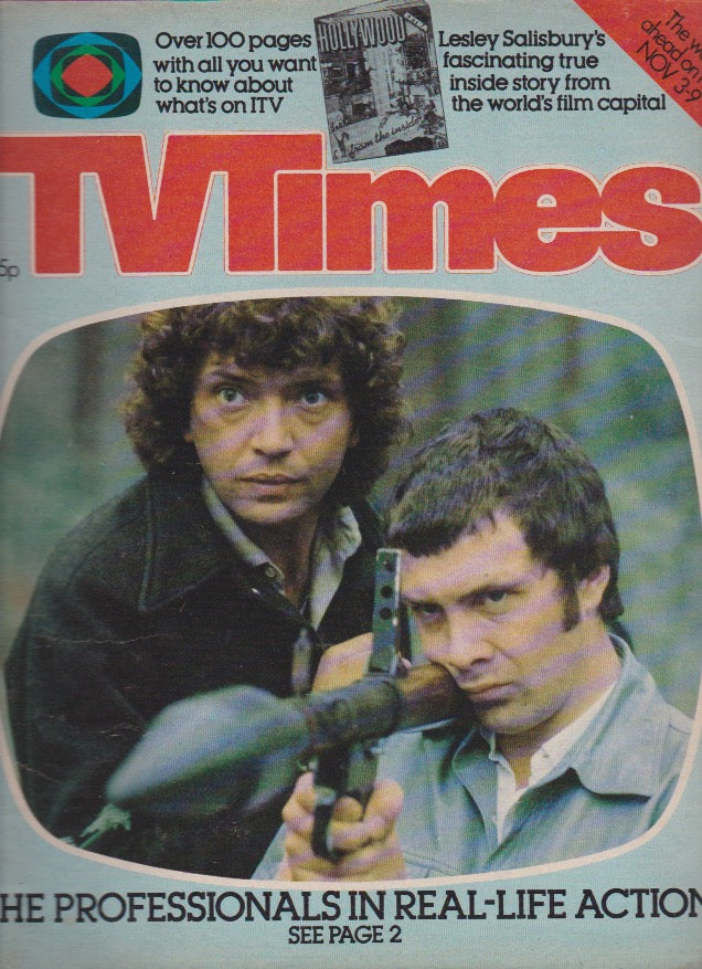 TV Times Magazine 1979 - Martin Shaw and Lewis Collins