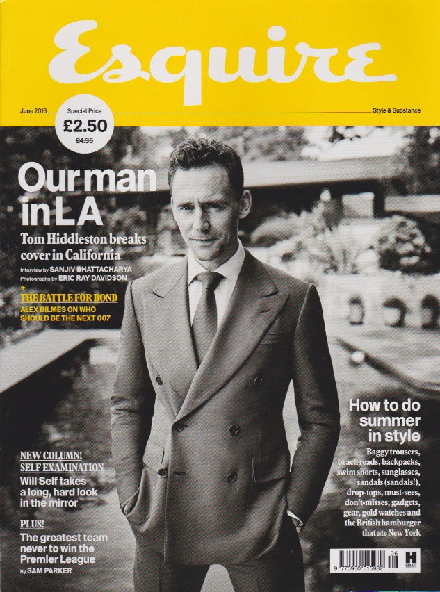 Esquire Magazine - June 2016 - Tom Hiddleston cillian murphy