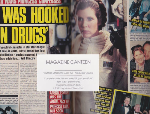 News Of The World Magazine - Carrie Fisher - Anita Dobson