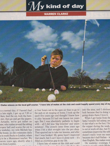 Radio Times Magazine - Warren Clarke - My Day