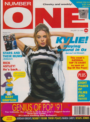Number One Magazine 1991 - Kylie Minogue
