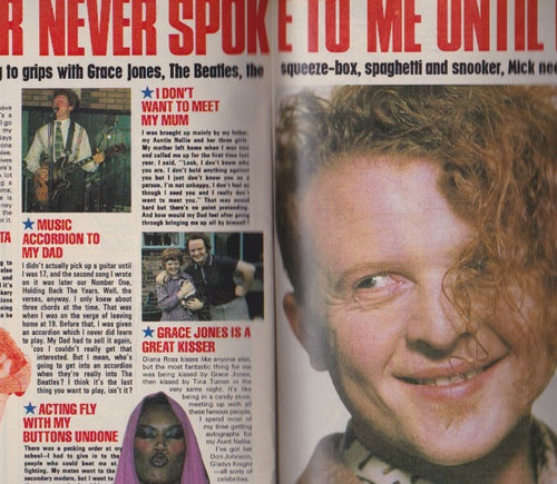 Mick Hucknall Simply Red - Rabbit Rabbit - Magazine Feature