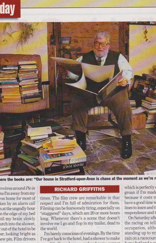 Radio Times Magazine - Richard Griffiths - My Day