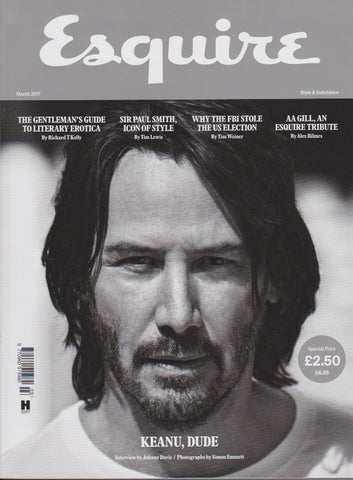 Esquire Magazine - March 2017 - Keanu Reeves