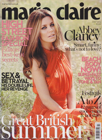Marie Claire Magazine - Abbey Clancy