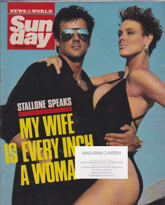 News Of The World Magazine - Sylvester Stallone
